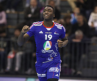 15.01.2013 Granollers, Spain. IHF men's world championship, prelimanary round. Picture show Luc Abalo   in action during game between France v Brazil at Palau d'esports de Granollers