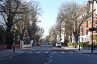 Abbey Road in St John's Wood, London. The severe effects of the COVID-19 epidemic continue to change the daily routines of the general public on London on 23rd March 2020
