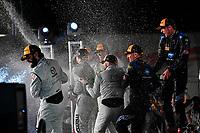#55 Mazda Team Joest Mazda DPi, P: Jonathan Bomarito, Marino Franchitti, Spencer Pigot, #10 Wayne Taylor Racing Cadillac DPi, P: Renger van der Zande, Jordan Taylor, Ryan Hunter-Reay, #77 Mazda Team Joest Mazda DPi, P: Oliver Jarvis, Tristan Nunez, Lucas Di Grassi