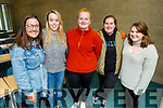 IT Tralee students pictured on Thursday before the closure were l-r: Majella Shanahan, Emma Finnerty, Jennifer White, Rebecca McGovern and Laura Monaghan.