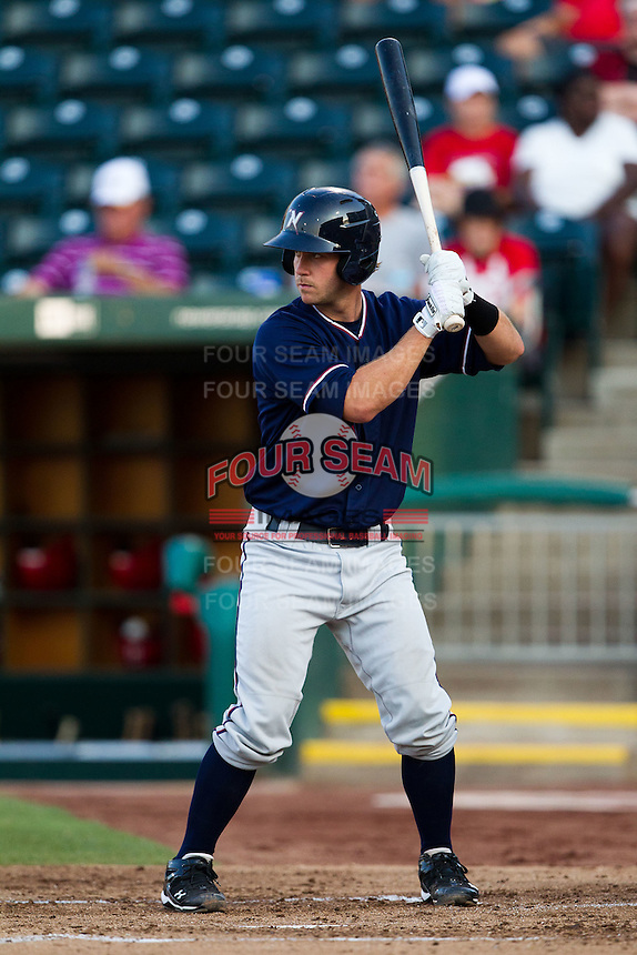 Ben Theriot (23) of the Northwest Arkansas Naturals at bat during a game against the Springfield Cardinals at Hammons Field on August 1, 2011 in Springfield, Missouri. Springfield defeated Northwest Arkansas 7-1. (David Welker / Four Seam Images)