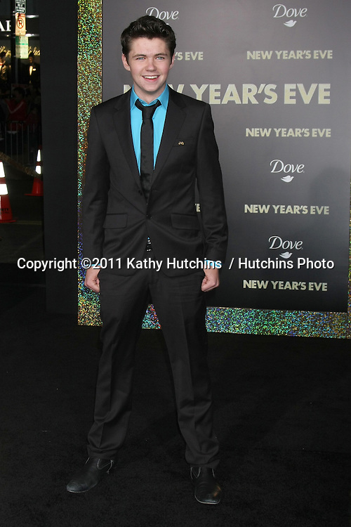 "LOS ANGELES - DEC 5:  Damian McGinty arrives at the ""New Year's Eve"" World Premiere at Graumans Chinese Theater on December 5, 2011 in Los Angeles, CA"