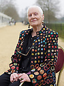 Dians Athill   writer  of Somewhere Towards The End  at The Oxford Literary Festival at Christchurch College Oxford  . Credit Geraint Lewis