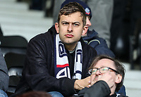 Bolton Wanderers' supporters enjoying the pre-match atmosphere<br /> <br /> Photographer Andrew Kearns/CameraSport<br /> <br /> The EFL Sky Bet Championship - Derby County v Bolton Wanderers - Saturday 13th April 2019 - Pride Park - Derby<br /> <br /> World Copyright &copy; 2019 CameraSport. All rights reserved. 43 Linden Ave. Countesthorpe. Leicester. England. LE8 5PG - Tel: +44 (0) 116 277 4147 - admin@camerasport.com - www.camerasport.com