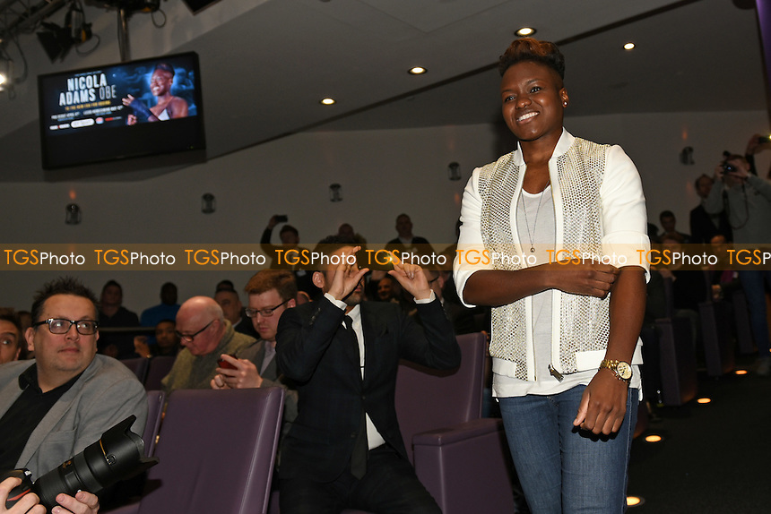 Boxer Nicola Adams OBE during a Frank Warren and BT Sport Press Conference at the BT Tower on 23rd January 2017