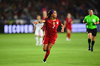 Carson, CA - Thursday August 03, 2017: Sydney Leroux during a 2017 Tournament of Nations match between the women's national teams of the United States (USA) and Japan (JPN) at the StubHub Center.