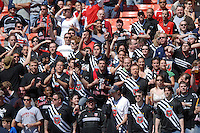 DC United Barra Brava chants for the team. DC United defeated Chivas USA 2-1, at RFK Stadium in Washington DC, Sunday May 6, 2007.