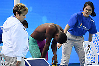 TARERE Josh PNG dejection after a false start  <br /> Men's 50m Freestyle <br /> Hangh Zhou 13/12/2018 <br /> Hang Zhou Olympic &amp; International Expo Center <br /> 14th Fina World Swimming Championships 25m <br /> Photo Andrea Staccioli/ Deepbluemedia /Insidefoto