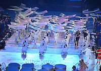 August 12, 2012..Brazilian artist perform during closing ceremony at the Olympic Stadium on the last day of 2012 Olympic Games in London, United Kingdom.