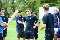Picture by SWpix.com - 09/052018 Yorkshire Cricket College first ever game v Woodhouse grove School, Apperley Bridge, Bradford - team members and players of take to field for The Yorkshire Cricket College first ever game v Woodhouse Grove School<br /> Captain &ndash; James Rogers