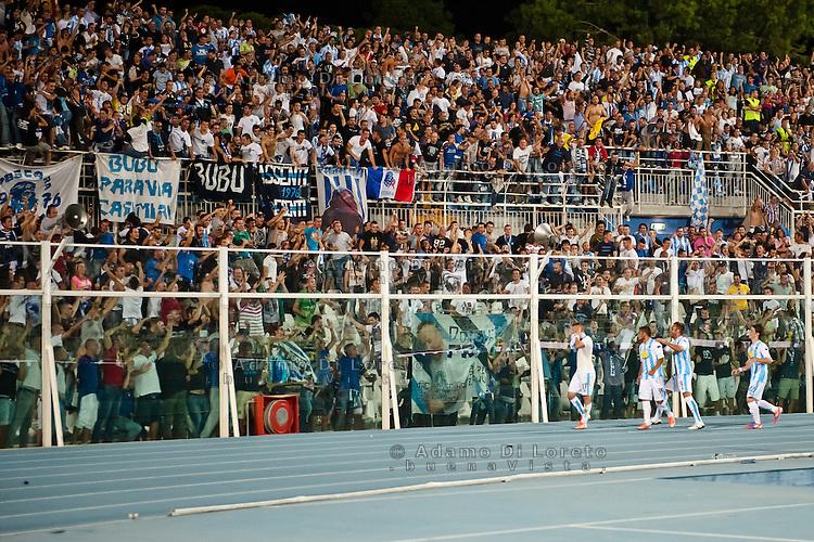 PESCARA (PE) 26/09/2012: CAMPIONATO DI CALCIO SERIE A PESCARA - PALERMO. PARTITA TERMINATA 1 A 0 GOAL DI WEISS. NELLA FOTO L'ESULTANZA DI VLADIMIR WEISS PESCARA. FOTO ADAMO DI LORETO