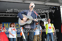 Peoples March for the NHS - Central London, Saturday 6th Sept 2014 - <br /> <br /> Billy Bragg entertains<br /> <br /> <br /> <br /> <br /> Photographer: Jeff Thomas - Jeff Thomas Photography - 07837 386244/07837 216676 - www.jaypics.photoshelter.com - swansea1001@hotmail.co.uk