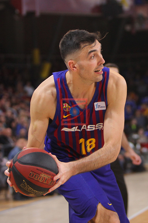 League ACB-ENDESA 2018/2019. Game: 14.<br /> FC Barcelona Lassa vs Monbus Obradoiro: 79-73.<br /> Pierre Oriola.