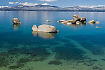 Lake Tahoe's whale beach in spring