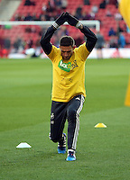 Pictured: Angel Rangel of Swansea Sunday 01 February 2015<br /> Re: Premier League Southampton v Swansea City FC at ST Mary's Ground, Southampton, UK.