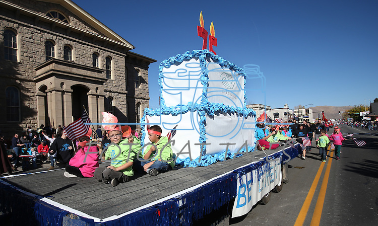 The Boys & Girls Club of Western Nevada float in the 75th annual Nevada Day parade in Carson City, Nev., on Saturday, Oct. 26, 2013.<br /> Photo by Cathleen Allison
