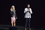 Kendra Wilkinson and Jai Rodriguez  along with several local performers at the Vegas Cares fundraiser at the Venetian Theater Las Vegas rings in 2018 with fireworks from the top of the Stratosphere