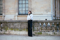 Nadia Shapovo at Paris Fashion Week (Photo by Hunter Abrams/Guest of a Guest)