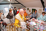 Pictured at the official opening of Bee's Teas in Dick Macs Yard, Dingle on Saturday. The opening was performed by  Padraig Kennelly. With him  in photo are tea-drinking family Ron MacDonnell, Crutch's Hotel,and his family Finn, Blaithin, Chloe and wife, Sandra. The Kerry's Eye editor stressed the beneficial effects of drinking tea in keeping the mind calm.  The tea house stocks over 22 varieties of tea in eight colours. Oliver MacDonnell, who made Dick Mac's bar famous, said at  launch, that tea drinking was a serious option for drivers who accompany passengers to the bar's House of Mirth and Merriment.