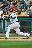 Jose Gil (36) of the Salt Lake Bees at bat against the Tacoma Rainiers in Pacific Coast League action at Smith's Ballpark on September 1, 2015 in Salt Lake City, Utah. The Bees defeated the Rainiers 10-1.  (Stephen Smith/Four Seam Images)