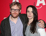 Brian Gleeson and Caoilfhionn Dunne  attending the Opening Night after party for the Atlantic Theater Company's 'The Night Alive' at IL Bastardo on December 12, 2013 in New York City.