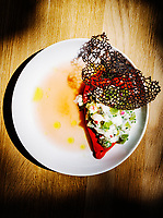 Black cod ceviche stuffed pepper at 12 @ Madison Restaurant in Denver, Colorado, Wednesday, August 22, 2018. <br /> <br /> Photo by Matt Nager