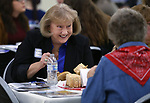Supporters Vivian Moon, left, and Beverly Dean enjoy dinner at the Western Nevada College Foundation Scholarship Celebration at Fuji Park in Carson City, Nev., on Friday, March 10, 2017. <br />Photo by Cathleen Allison/Nevada Photo Source