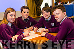 Gaelscoil Faithleann, An Phairc, Killarney Ben O'Cearbhail, Isabelle Ni Fhuitligh, Daire O'Brian and Cormac O'Rua at the Chapter 23 Credit Union Table Quiz at Ballyroe Heights Hotel on Sunday