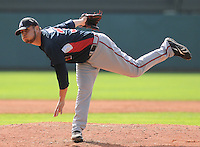 16 March 2009: Jo Jo Reyes of the Atlanta Braves pitches in an intrasquad game at Champion Stadium at the Braves' Spring Training camp at Disney's Wide World of Sports in Lake Buena Vista, Fla. Photo by:  Tom Priddy/Four Seam Images