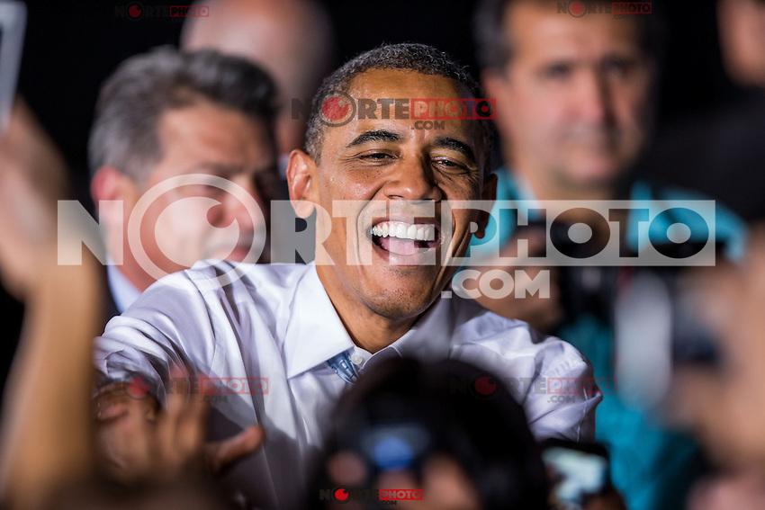 LAS VEGAS, NV - September 30:  President Barack Obama delivers remarks at Desert Pines High School on September 30, 2012 in Las Vegas, Nevada. © Kabik/ Starlitepics /MediaPunch Inc.