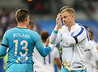 Goalkeeper Joe Hart (Manchester City ) of England & Goalkeeper Goalkeeper Jack Butland (Stoke City) of England at full time during the International Friendly match between France and England at Stade de France, Paris, France on 13 June 2017. Photo by David Horn/PRiME Media Images.