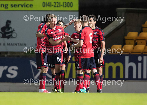 Dave Mackay Testimonial: St Johnstone v Dundee&hellip;06.10.17&hellip;  McDiarmid Park&hellip; <br />Mark O&rsquo;Hara c elebrates giving Dundee and early lead<br />Picture by Graeme Hart. <br />Copyright Perthshire Picture Agency<br />Tel: 01738 623350  Mobile: 07990 594431