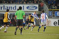 VOETBAL: SC HEERENVEEN: Abe Lenstra Stadion, 17-02-2012, SC-Heerenveen-NAC, Eredivisie, Eindstand 1-0, Doke Schmidt, Ömer Bayram, ©foto: Martin de Jong.