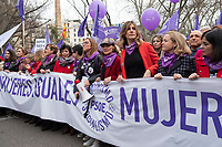MADRID, SPAIN -  MARCH 8: Members of the Spanish Goverment hold a banner during the International Women's Day demonstration on 8 March, 2020 in Madrid, Spain  (Photo by Sergio Belena / VIEWpress).