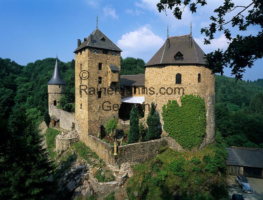 Belgium, Province Liege, Ardennes Forest, near Malmedy: Reinhardstein Castle | Belgien, Provinz Luettich, bei Malmedy: Burg Reinhardstein auch Burg Metternich genannt