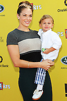 SANTA MONICA, CA, USA - NOVEMBER 16: Amanda Righetti, Knox Addison Alan arrives at the P.S. ARTS Express Yourself 2014 held at The Barker Hanger on November 16, 2014 in Santa Monica, California, United States. (Photo by Celebrity Monitor)