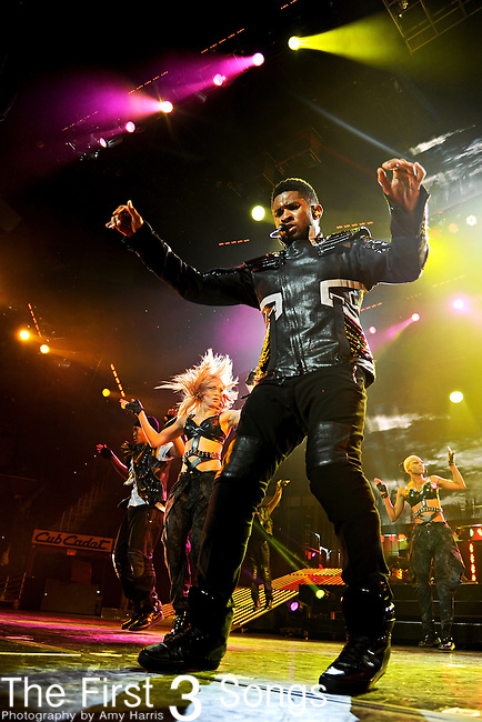 """Usher performs in Cleveland, Ohio at Quicken Loans Arena on Thursday May 12, 2011 on the """"OMG Tour""""."""
