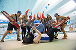 """The campus rec team tries out """"Land Shark Week"""" as their costume for the Student Affairs costume contest.  Photo by Kevin Bain/University Communications Photography"""