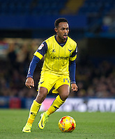 Rob Hall of Oxford United during the The Checkatrade Trophy match between Chelsea U23 and Oxford United at Stamford Bridge, London, England on 8 November 2016. Photo by Andy Rowland.