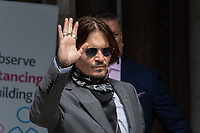 London, UK - 23 July 2020<br /> Johnny Depp attends libel trial against The Sun, a tabloid newspaper, at The Royal Courts of Justice.<br /> CAP/JOR<br /> ©JOR/Capital Pictures