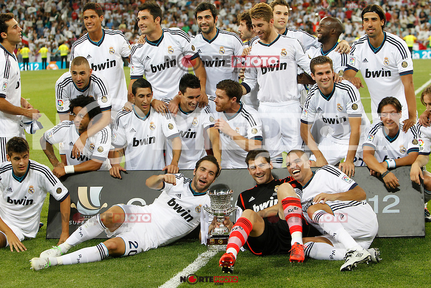 Real Madrid's players during Spanish Supercup 2nd match on august 29 2012...Photo: Cebola / Cid-Fuentes / ALFAQUI /NortePhoto.com<br />