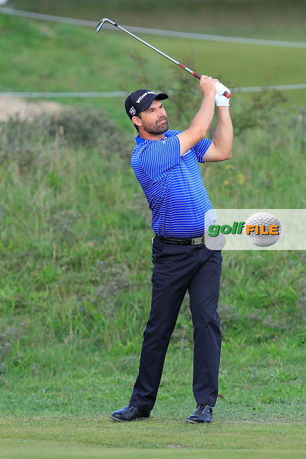 Padraig Harrington (IRL) on the 1st fairway during Round 4 of the 2015 KLM Open at the Kennemer Golf &amp; Country Club in The Netherlands on 13/09/15.<br /> Picture: Thos Caffrey | Golffile