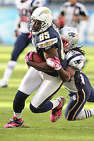 10/24/10 San Diego, CA: San Diego Chargers tight end Antonio Gates #85 during an NFL game played at Qualcomm Stadium between the San Diego Chargers and the New England Patriots. The Patriots defeated the Chargers 23-20.