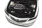 Car stock 2017 Acura RLX Sport Hybrid 4 Door Sedan engine high angle detail view