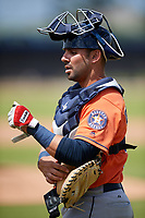 Houston Astros Lorenzo Quintana (58) during a Minor League Spring Training Intrasquad game on March 28, 2018 at FITTEAM Ballpark of the Palm Beaches in West Palm Beach, Florida.  (Mike Janes/Four Seam Images)