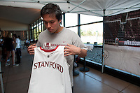 Stanford, CA -- January 28, 2012: Clayton Holz during Buddy Day held  Saturday afternoon as part of Stanford vs. Cal Women's Basketball game at Maples Pavilion at Stanford.<br /> <br /> Stanford defeat Cal 74-71 in overtime.