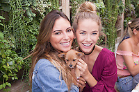 Brittny Ward and Olivia Jordan attend Mowgli Rescue at The Butcher's Daughter on November 6, 2016 (Photo by Alexander Plank/Guest Of A Guest)