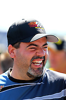 Jul. 27, 2014; Sonoma, CA, USA; NHRA pro stock driver Chris McGaha during the Sonoma Nationals at Sonoma Raceway. Mandatory Credit: Mark J. Rebilas-