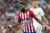 Thomas Lemar of Atletico Madrid during the match between Real Madrid v Atletico Madrid of LaLiga, date 7, 2018-2019 season. Santiago Bernabéu Stadium. Madrid, Spain - 29 SEP 2018.