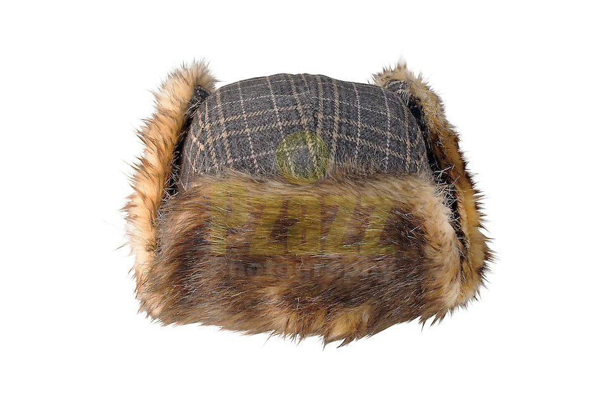 Studio packshot of the Marco Faux Fur-Lined Trapper Hat